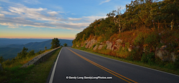 Photo of Skyline Drive by inaugural Shenandoah National Park Artist in Residence Sandy Long.