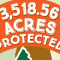 A detail of the infographic depicting the number of acres protected by Pike County PA's Scenic Rural Character Preservation Program.