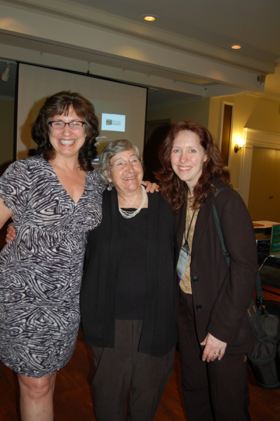 Photo of Barbara Yeaman, Virginia Kennedy of Delaware Highlands Conservancy and Nicole Faraguna PA Land Trust Association at the Leadership Awards dinner.