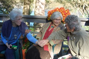 Digital candid photograph of Crone's Club members celebrating the launch of Crone Age by author Marcia Nehemiah.