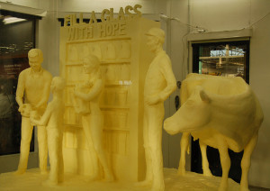 Photo by Sandy Long of the 2015 butter sculpture at the Pennsylvania Farm Show in Harrisburg.