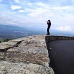 Shenandoah National Park Artist-in-Residence Sandy Long photographs an overlook along Skyline Drive.