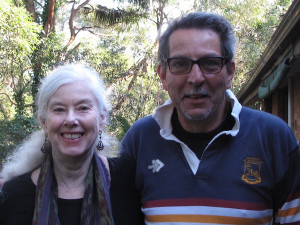 Photo of author Trebbe Johnson, Founder of Radical Joy for Hard Times, and renowned Australian environmental philosopher Glenn Albrecht are collaborating on The Ground Beneath Our Hearts, which will launch on May 22nd and culminate in a global day of art and action on September 12th.